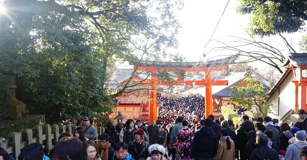 Fushimi Inari am Neujahrstag