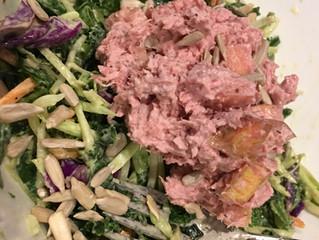Dijon Kale and Broccoli Slaw Salad