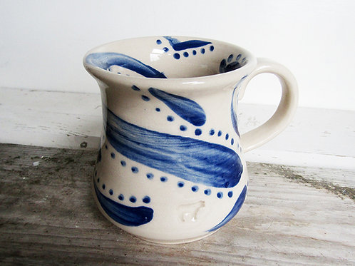 Unique hand painted Old Cow Mug