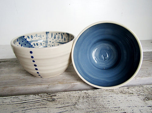 Small serving bowls hand painted