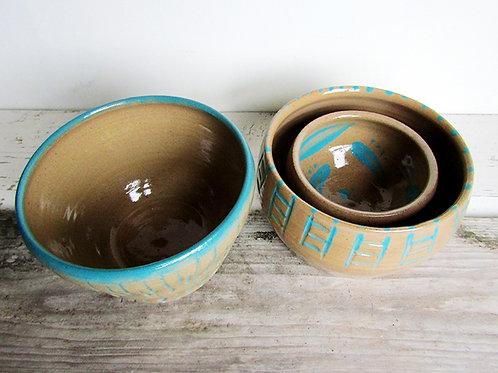 Set of 3 display bowls