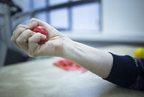 Hand stimulation used to treat pain, mus