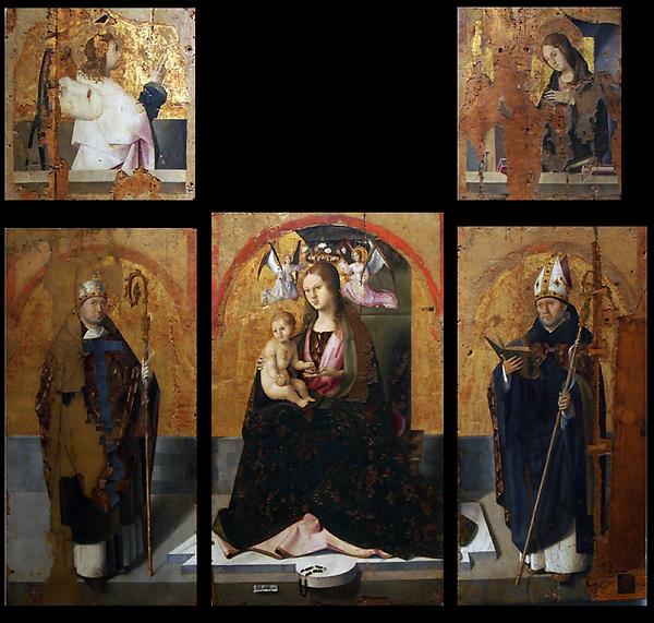 II Polittico di San Gregorio, Antonello da Messina, Museo Regionale di Messina