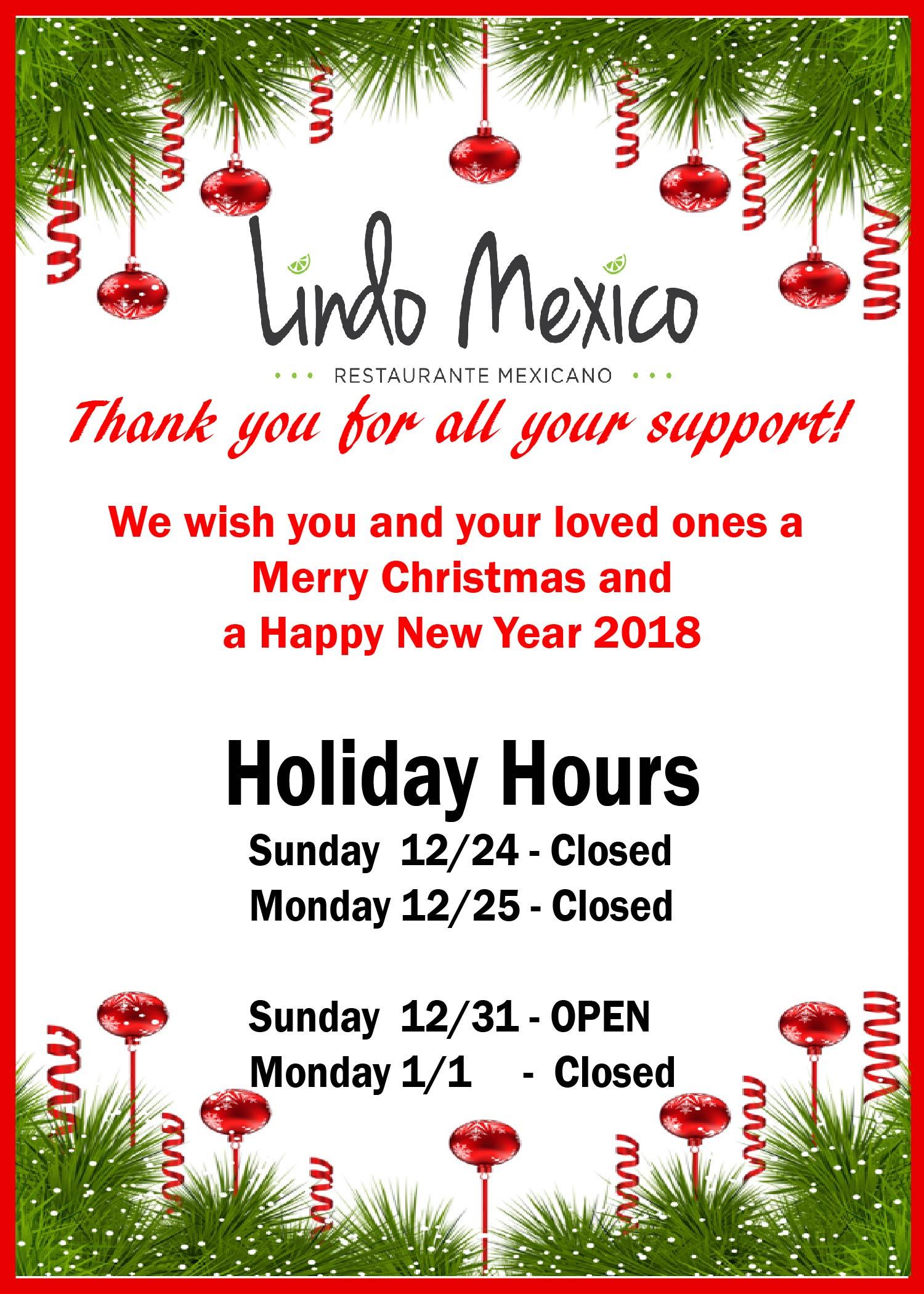 Feliz navidad y happy new year 2018 lindo mexico restaurante feliz navidad y happy new year 2018 lindo mexico restaurante mexicano home kristyandbryce Gallery
