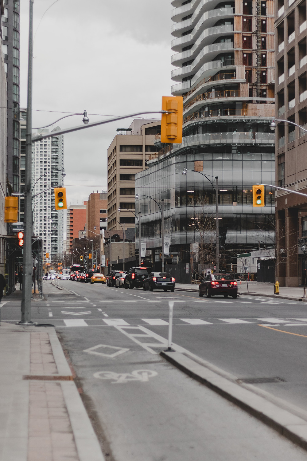 Intersection in Toronto.