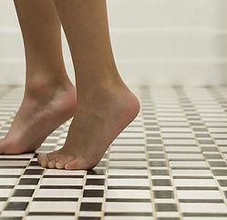 Black ad White Checkered Tile