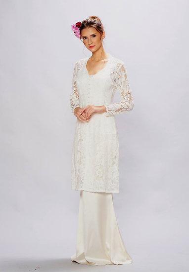 White kebaya baju