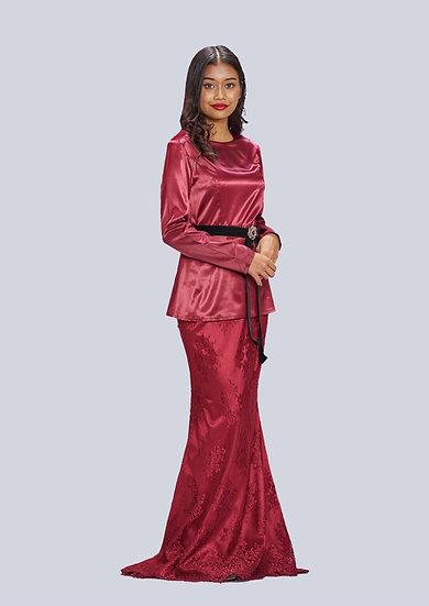 Peplum Top and French Lace Skirt modern baju kurung hari raya