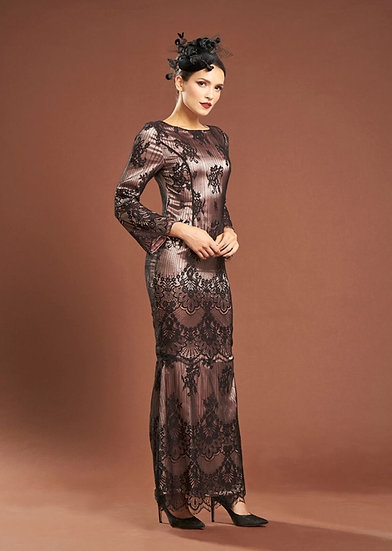 French lace black baju kurung dress hari raya