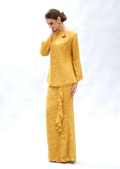 baju kurung mustard