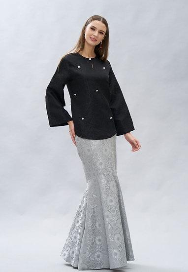 Brocade beaded Top & Skirt Modern Baju Kurung Hari Raya