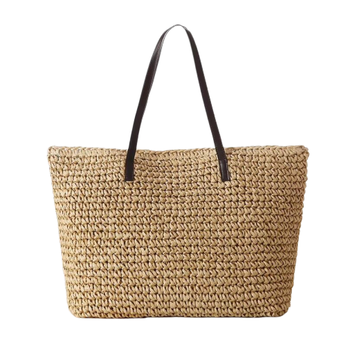 Straw tote bag online