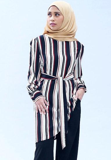 stripes long sleeve blouse