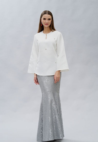 Brocade beaded Top & Skirt Modern Baju Kurung Hari Raya