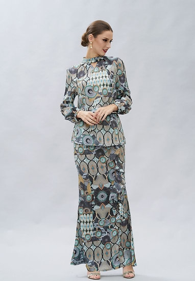 Victoria prints modern baju kurung hari raya