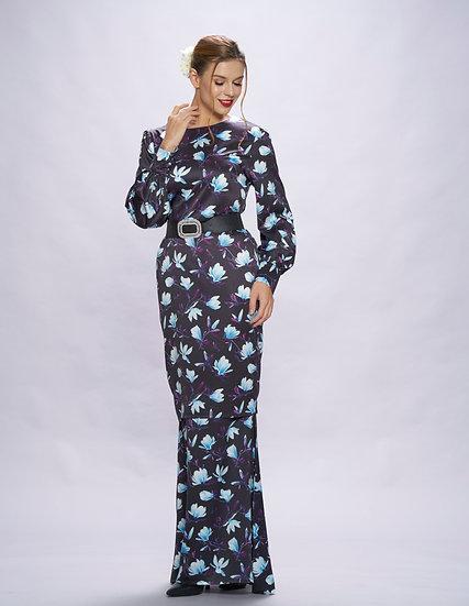 Floral modern baju kurung hari raya