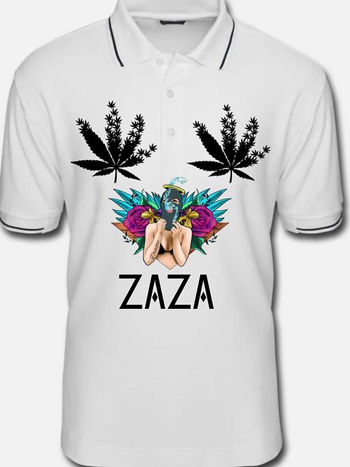 ZAZA-(BL)-MEN TIPPED POLO