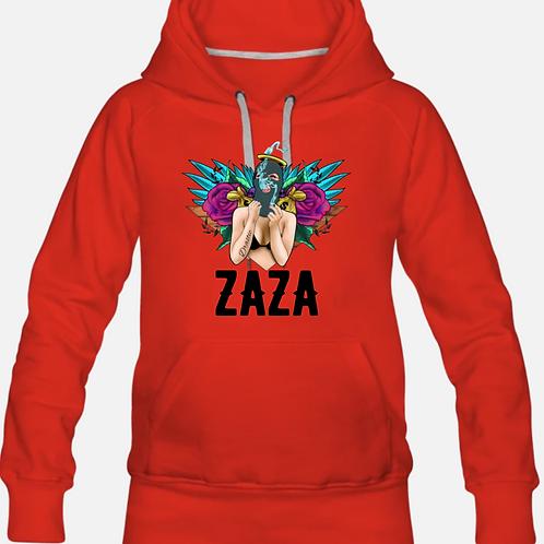 ZAZA-(BL)SLIM-FIT HOODIE