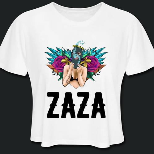 ZAZA-Crop Top(Black Letters)