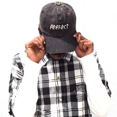 Black Stone Washed Perfect Cap