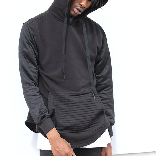 H&W Quilted Detail Hoodie