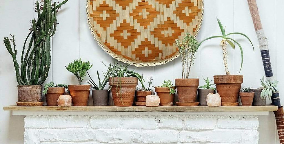 Bamboo Woven Round Basket Tray Rustic Boho Decor Wall Hanging Home Decoration