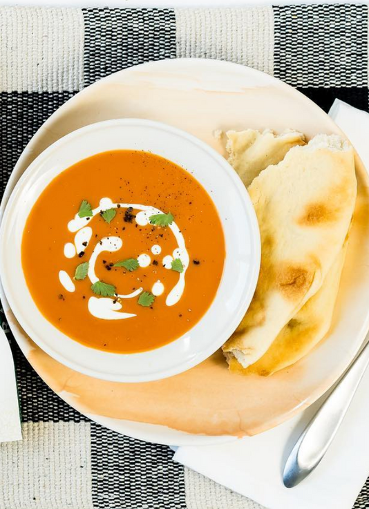 Naan and Soup