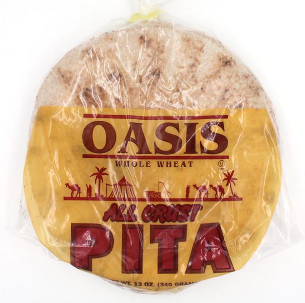 """Small 7"""" Whole Wheat Pita (front)"""