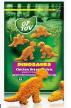 Of Tov Dinosaurs Turkey Schnitzel 600g