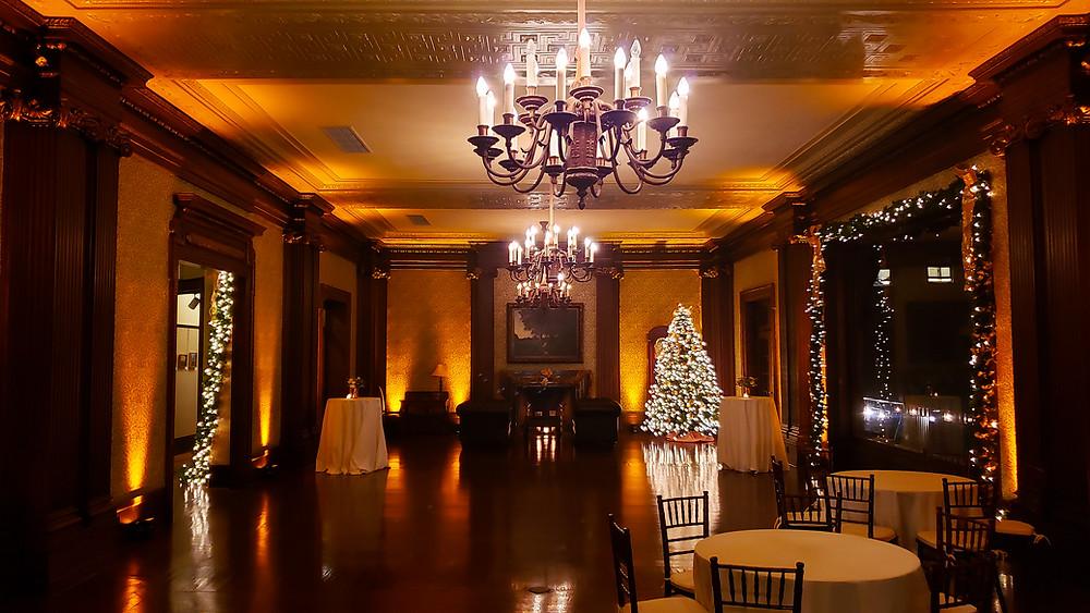 University Club wedding lighting DJ