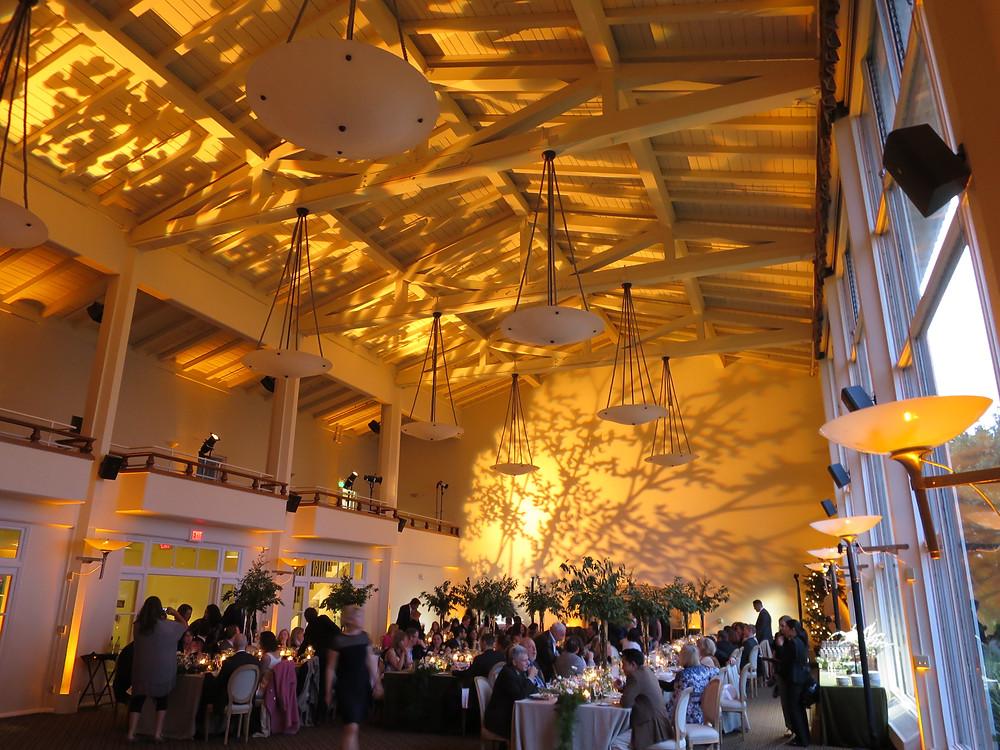 Golden Gate Club Wedding Lighting