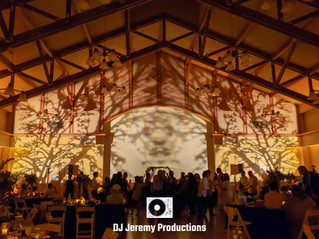 Mill Valley Community Center wedding lighting | Lighting by DJ Jeremy Productions
