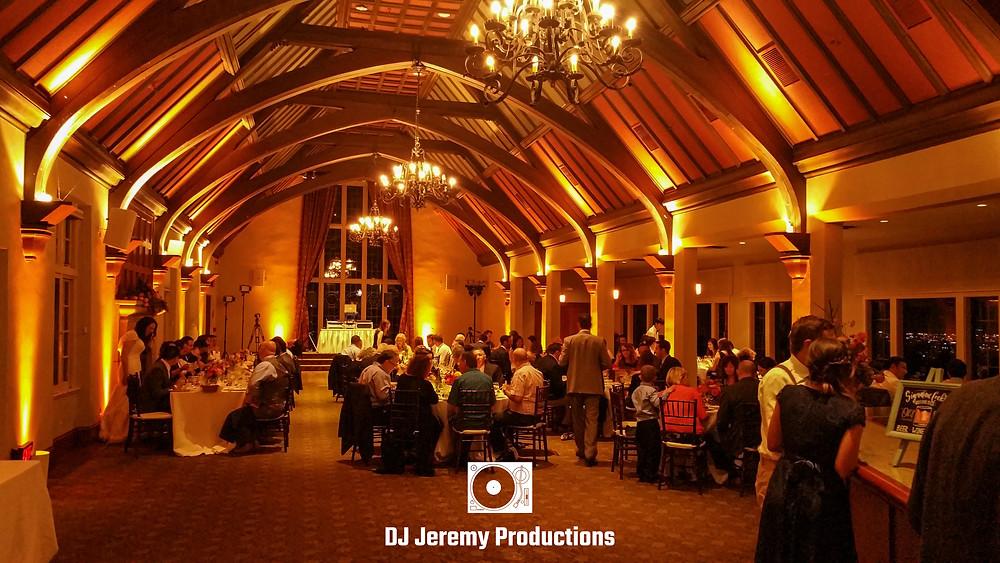 Berkeley Country Club wedding uplights uplighting