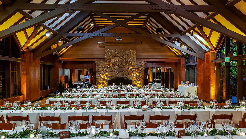 Brazilian Room wedding uplights
