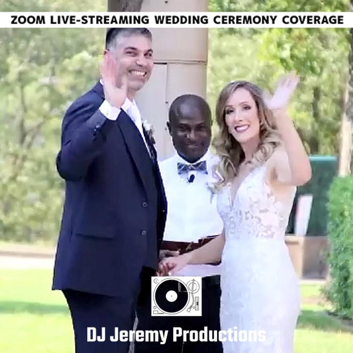 Pleasanton Zoom Wedding Livermore Livestream Event