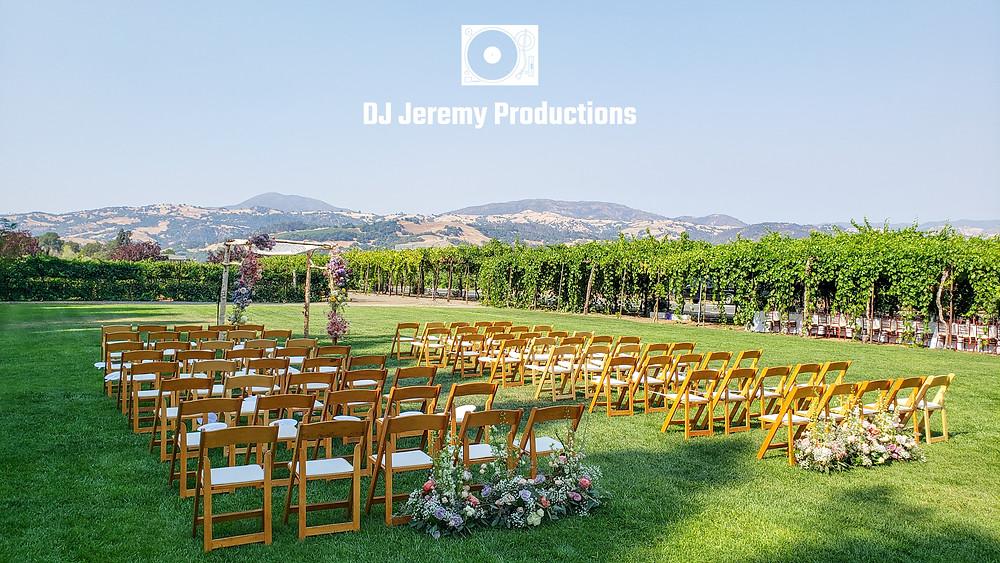 Trentadue wedding ceremony DJ