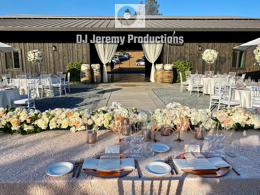 Black Oak Mountain Vineyards wedding DJ