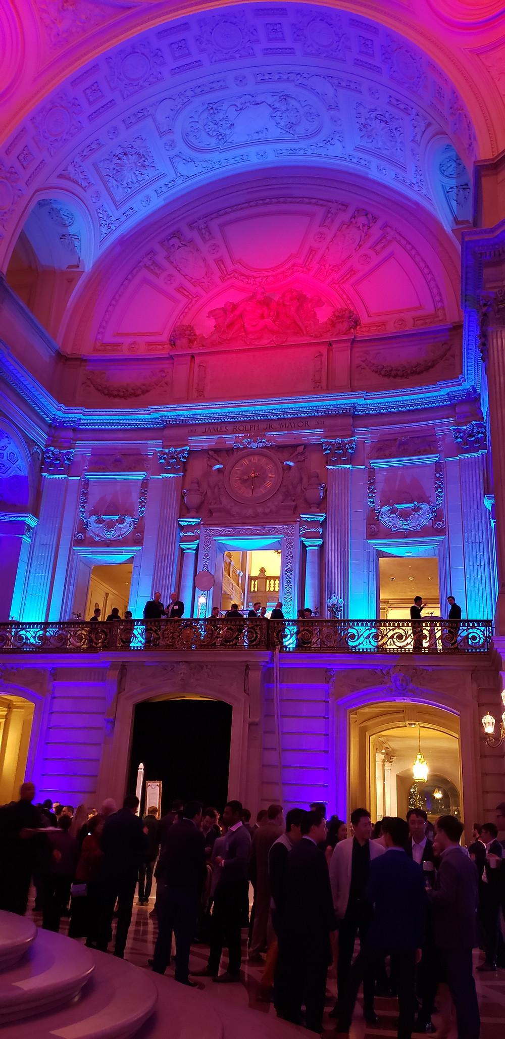 San Francisco DJ City Hall Wedding Event Lighting