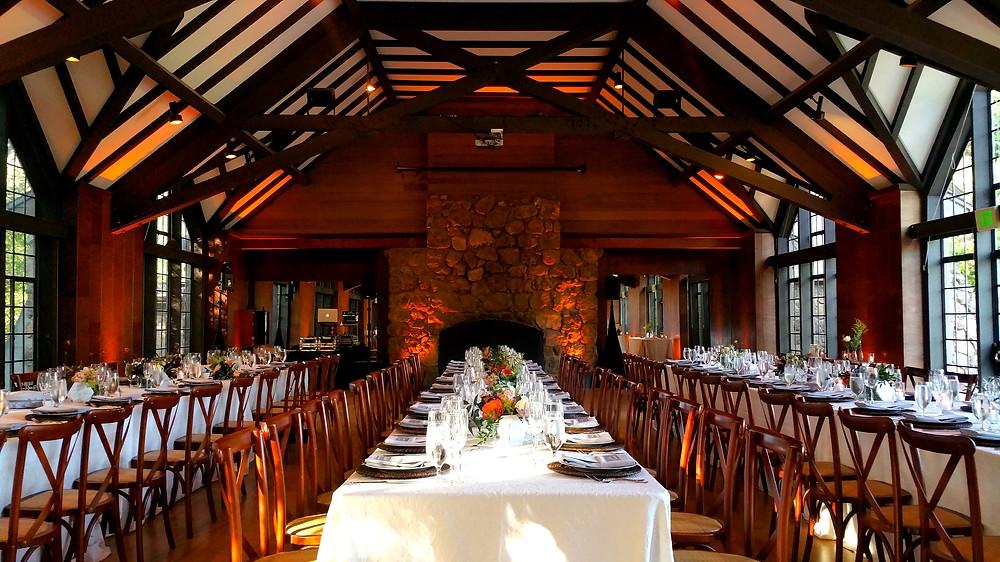 Brazilian Room wedding farm table photo