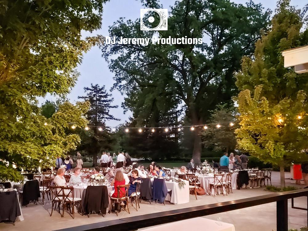 Park Winters wedding patio dinner