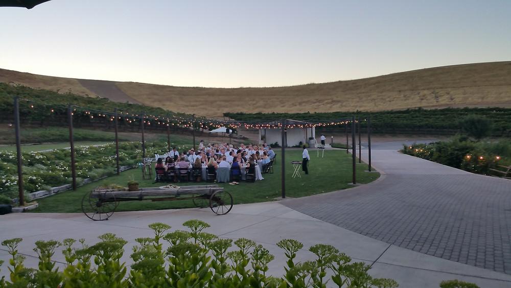 Taber Ranch wedding dinner