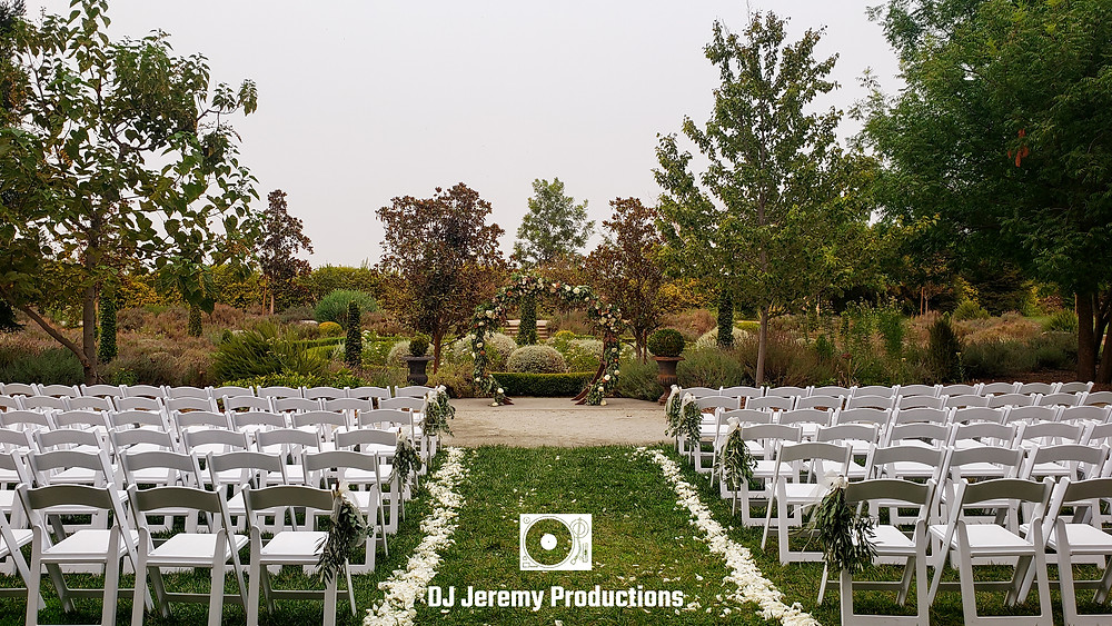 Park Winters wedding ceremony DJ