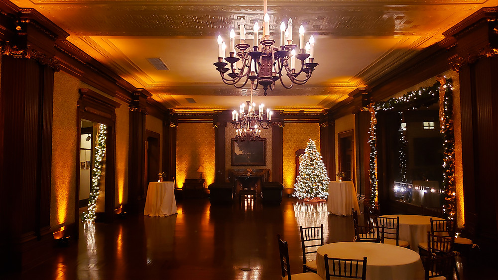 University Club San Francisco wedding lighting