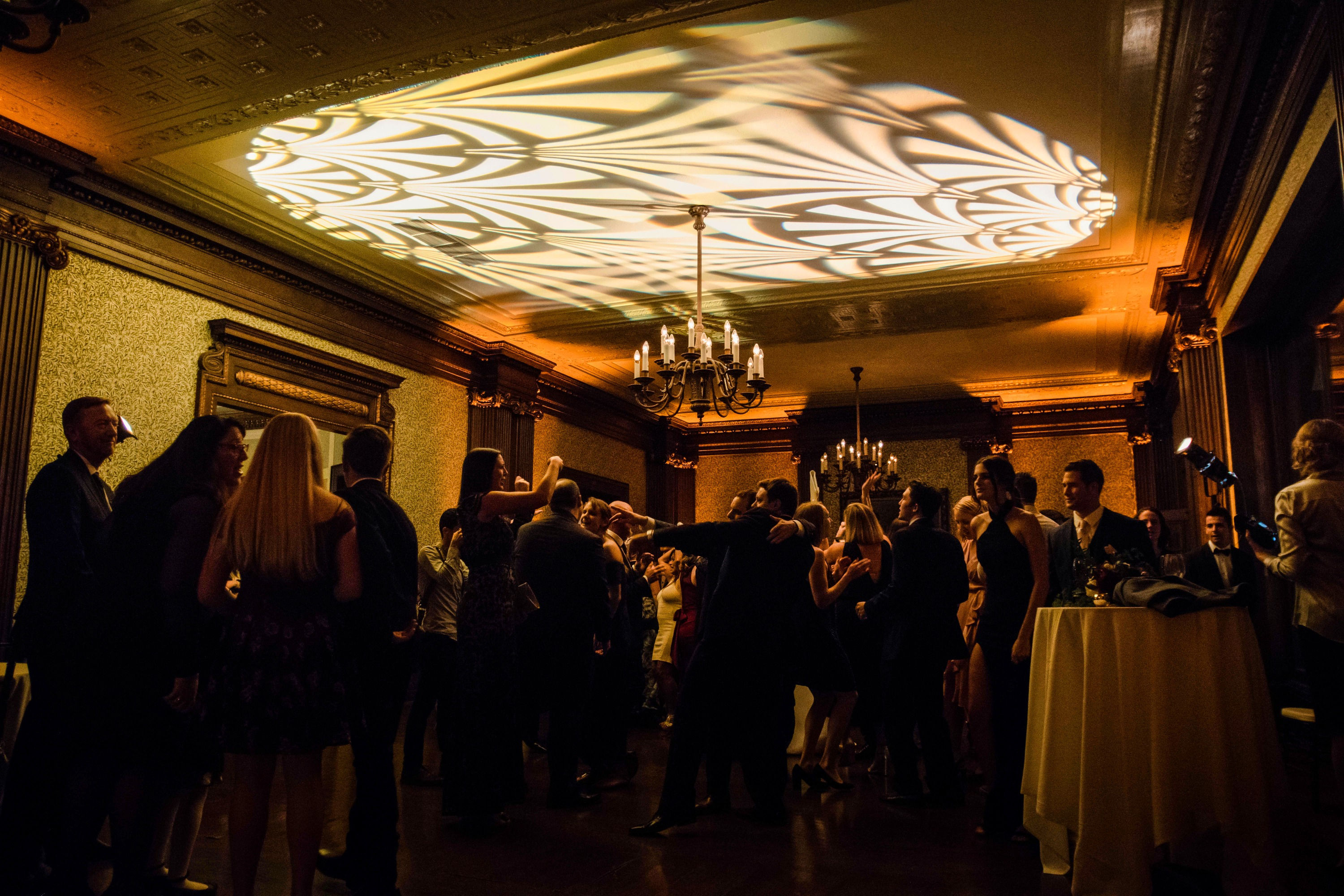 University Club Wedding Lighting Gobo an