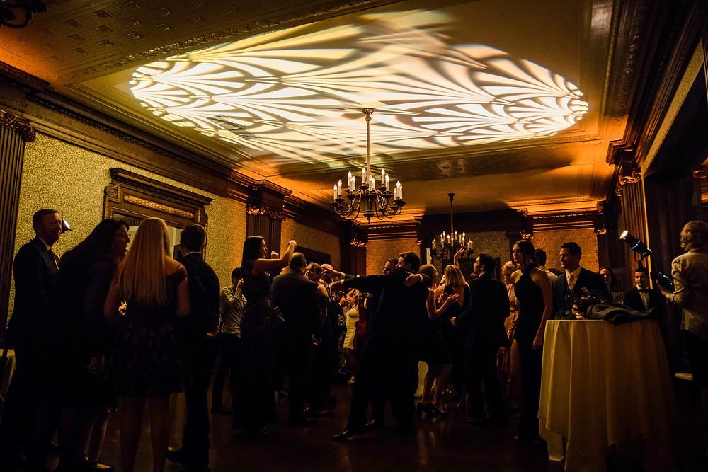 University Club San Francisco Uplights Lighting Wedding