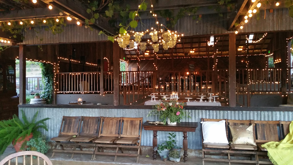 Taber Ranch wedding barn patio