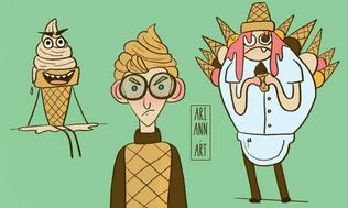 Ice cream monster Character