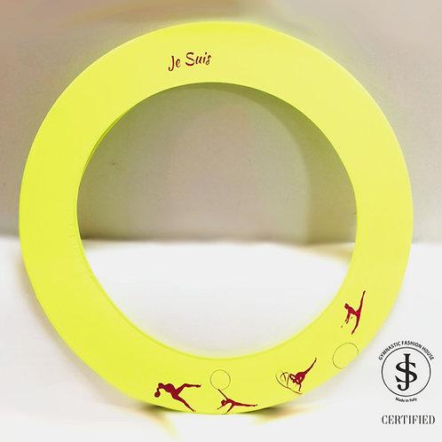 Copricerchio Art Glitter art.09022102 My Rhythmics giallo/rosso