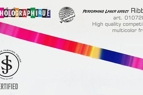 Nastro da ritmica Holographique art. 01072004 multicolor fruits