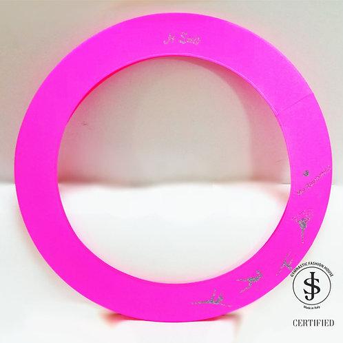 Copricerchio Art Glitter art.09022103 My Rhythmics rosa fluo/dark silver